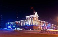 В новогоднюю ночь закрывается движение транспорта на главной площади Гусева