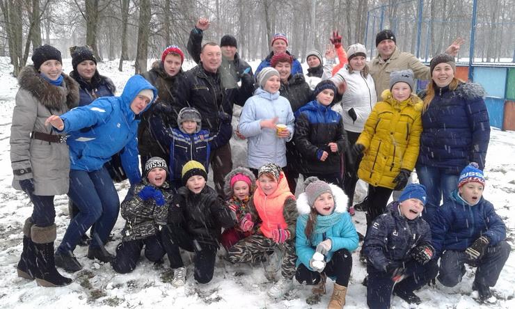 В период новогодних каникул на территории ФОКа прошли спортивные эстафеты